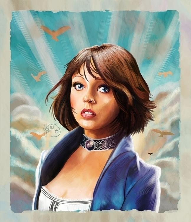 Digital painting Elizabeth Bios - hellonsy | ello