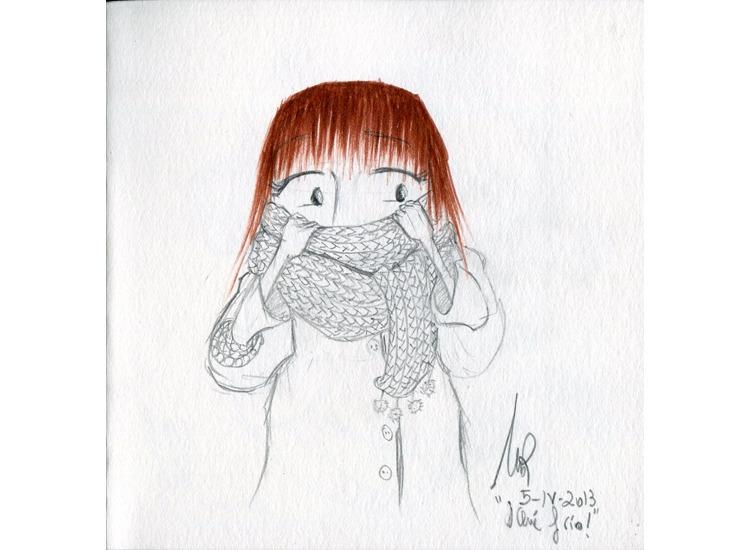Cold - illustration, drawing - mirilustra | ello