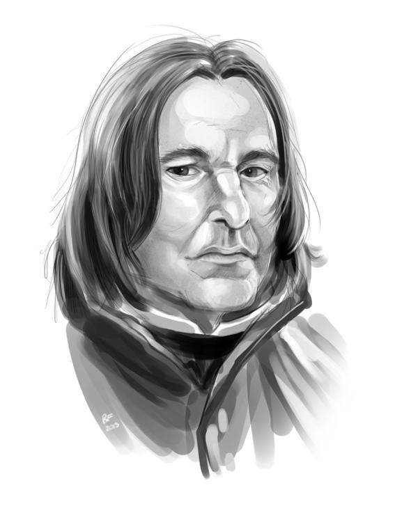 Snape sketch - harrypotter, severussnape - rhandidandy | ello