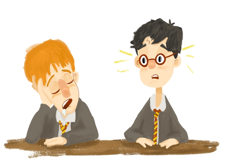 1st years - illustration, harrypotter - cjwords | ello