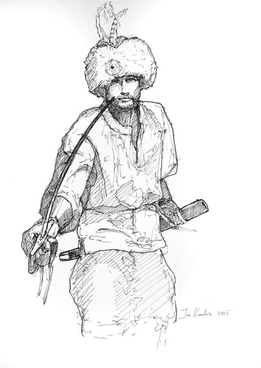 warrior, war, sabre, sword, hussar - jandraws | ello
