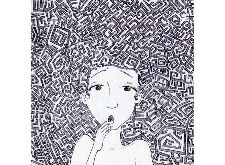 head - illustration, drawing - mirilustra | ello