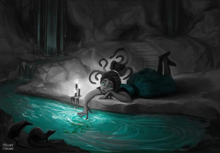 Medusa - illustration, girl - mallorycarlson | ello