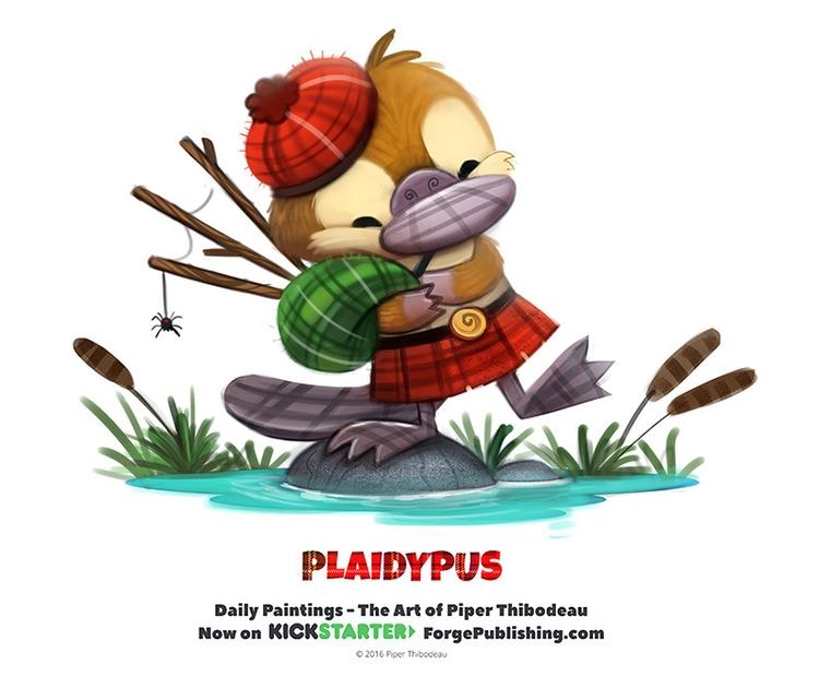 Daily 1338. Plaidypus - piperthibodeau | ello
