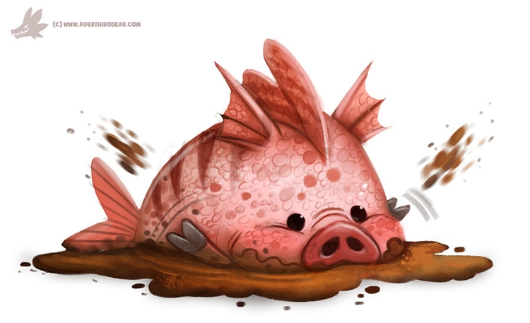 Daily Paint Mud-fish - 1021. - piperthibodeau | ello