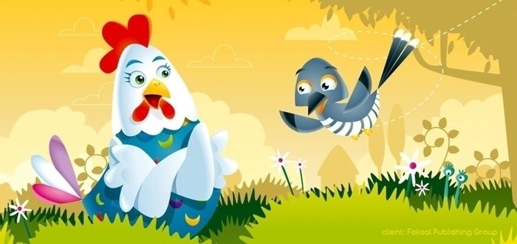 hen - illustration, swallow - marcinpoludniak | ello