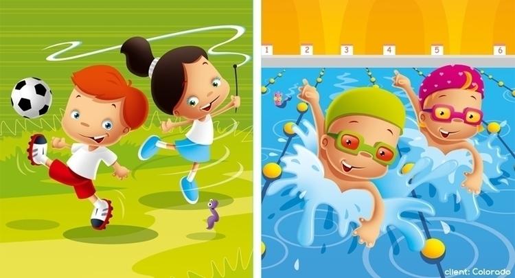 sport - illustration, football, acrobatics - marcinpoludniak | ello