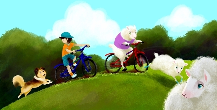 Sashi Chases Sheep - childrensbook - barkpointstudio | ello