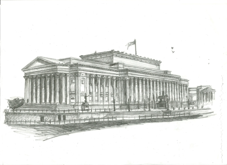 St Hall, Liverpool - drawing, architecture - artla | ello
