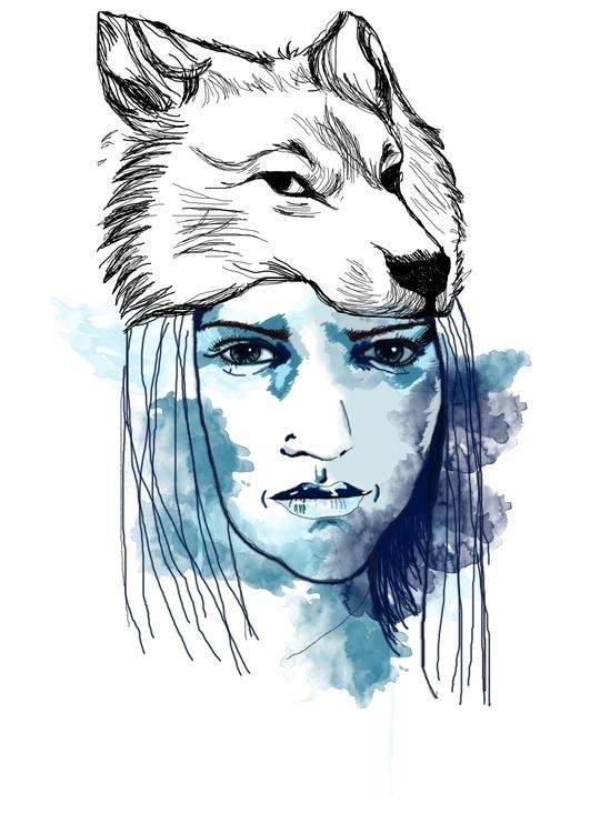 illustration, face - mgoncalves | ello
