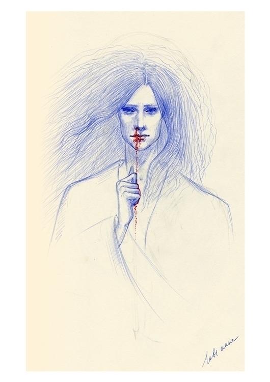 bleeding - illustration, art, artwork - annaorca   ello