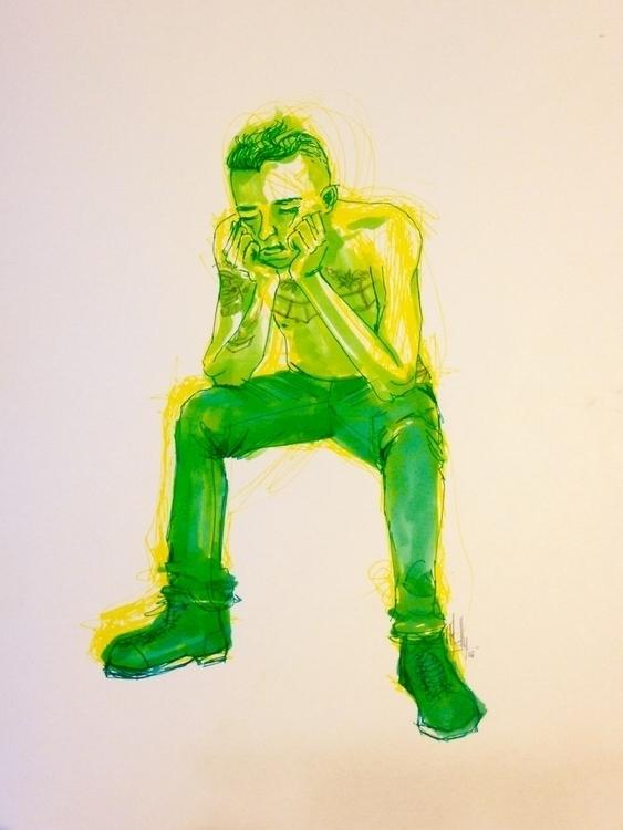 Live model drawing Sketchy Frid - islasmowin | ello