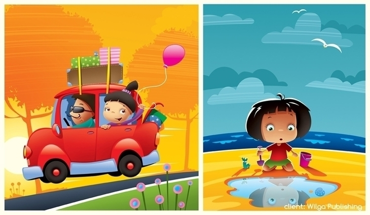 holiday - illustration, summer, car - marcinpoludniak | ello
