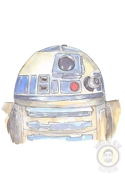 R2D2 - starwars, starwars, fanart - whistlingbear   ello