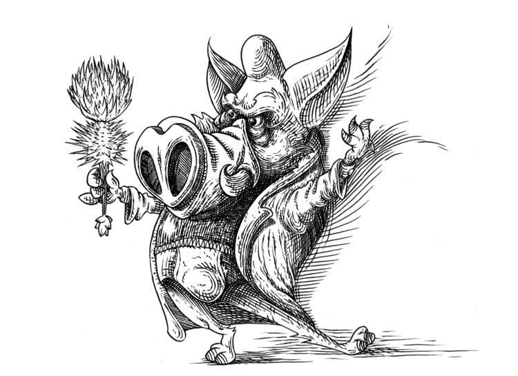 Groom boar - illustration, characterdesign - kaiman-6057 | ello