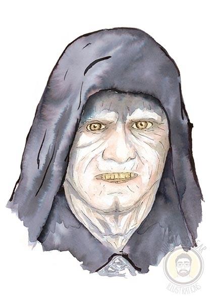Darth Sidious - ink, watercolour - whistlingbear | ello