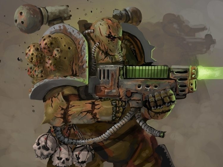 Plague Marine - illustration, sci-fi - ulrich-3349 | ello