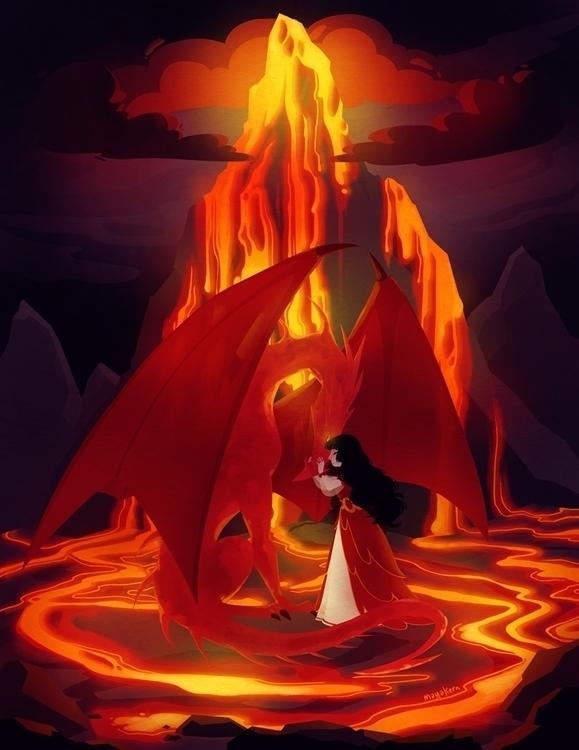 lady dragon - illustration, art - mayakern   ello
