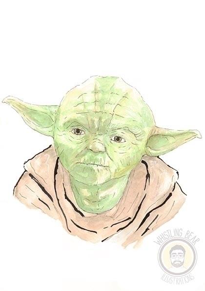 Yoda - illustration, starwars, fanart - whistlingbear | ello