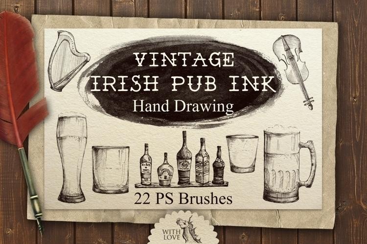 Set vintage hand drawing brushe - kate_vigdis | ello