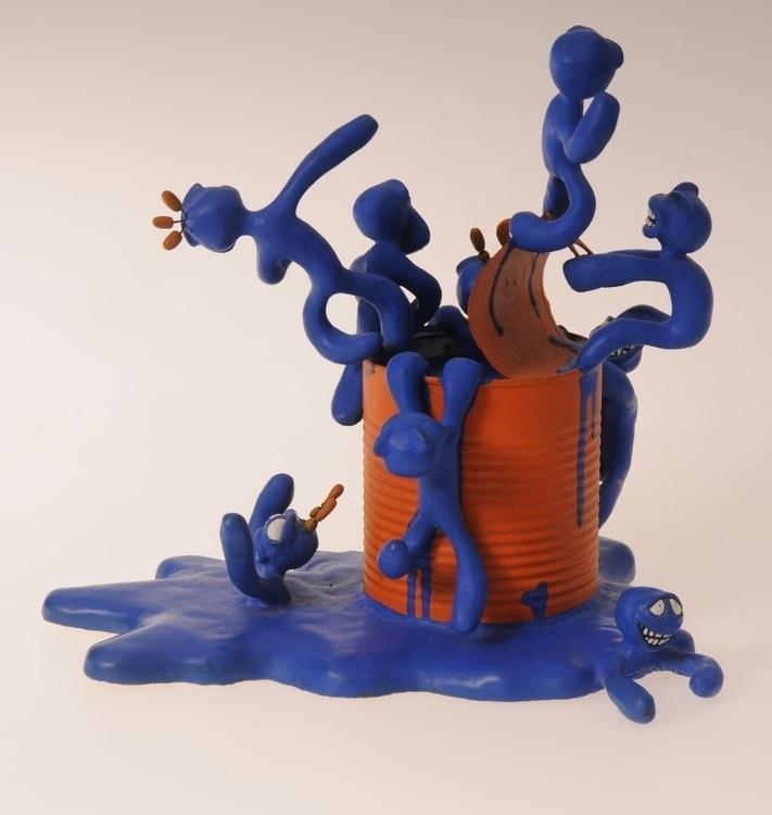 Blue-Man Box - figurine, artoyz - smouss | ello