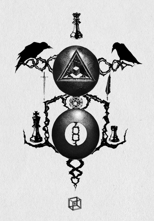 illustration, monochrome, blackandwhite - neimenjaidde | ello