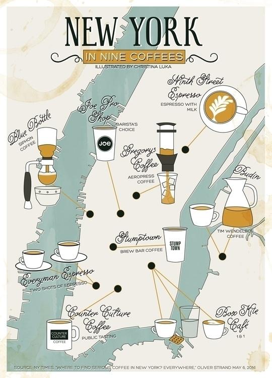 York Coffees - newyork, coffee, map - christinaluka | ello