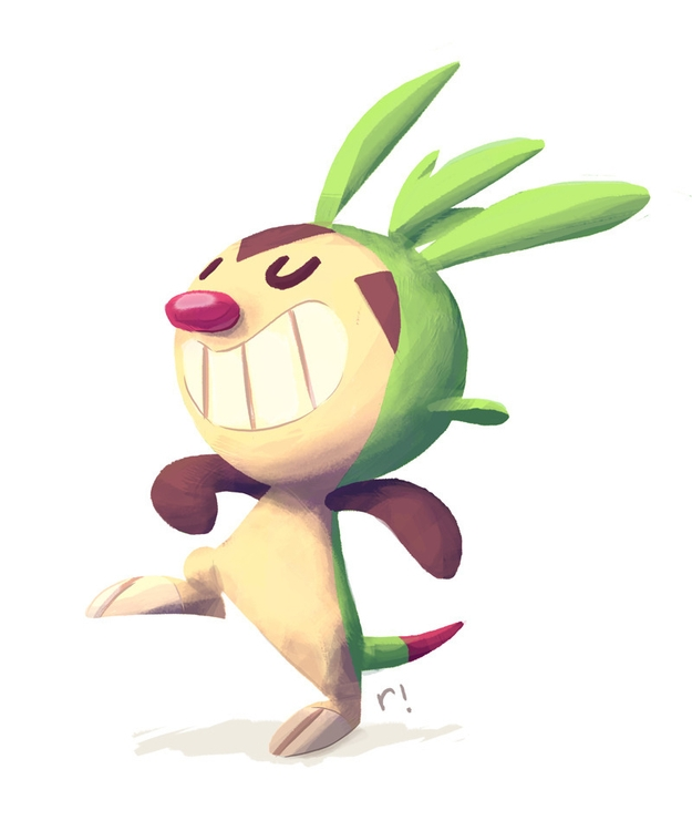 Chespin - illustration, digitalpainting - ryannotbrian | ello