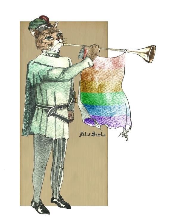 Rainbow Cat Felis Simha - rainbow - felissimha | ello