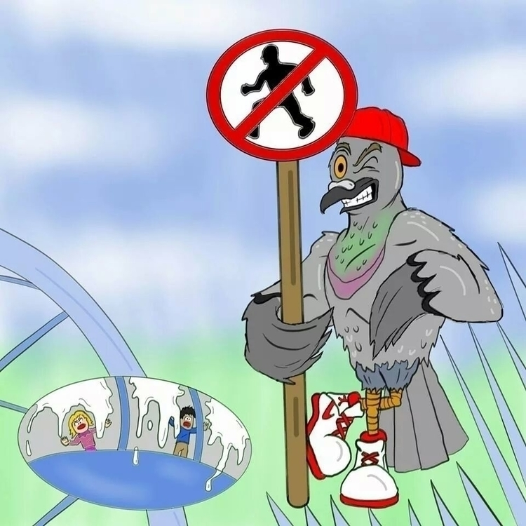 Pigeon Character - pigeon, cartoon - benpoultneyart | ello