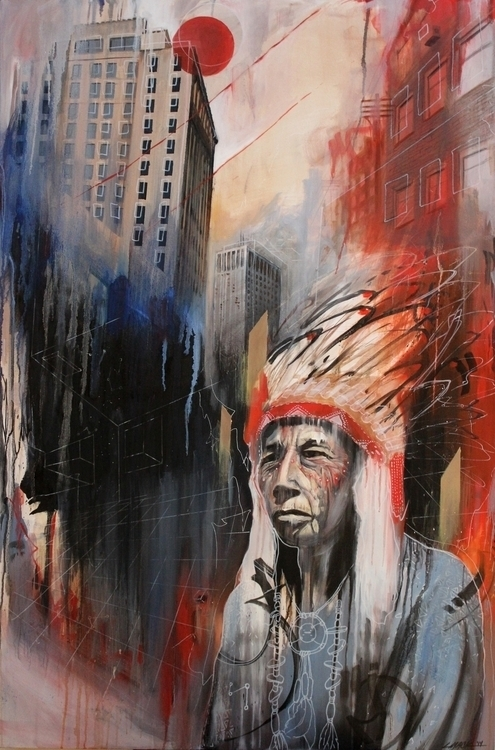 Oil canvas. 30 40 - nativeamerican - lukemack | ello