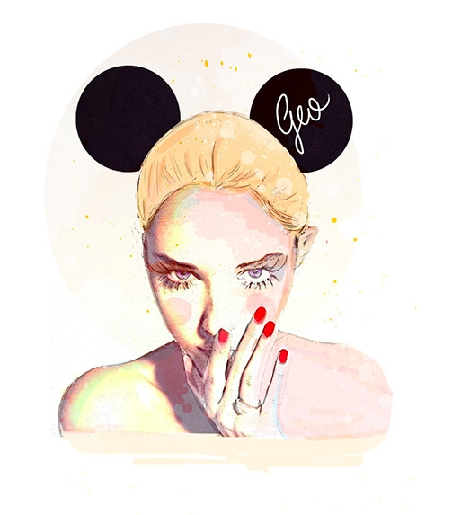 Minie Mouse ~ female Illustrati - geo23 | ello
