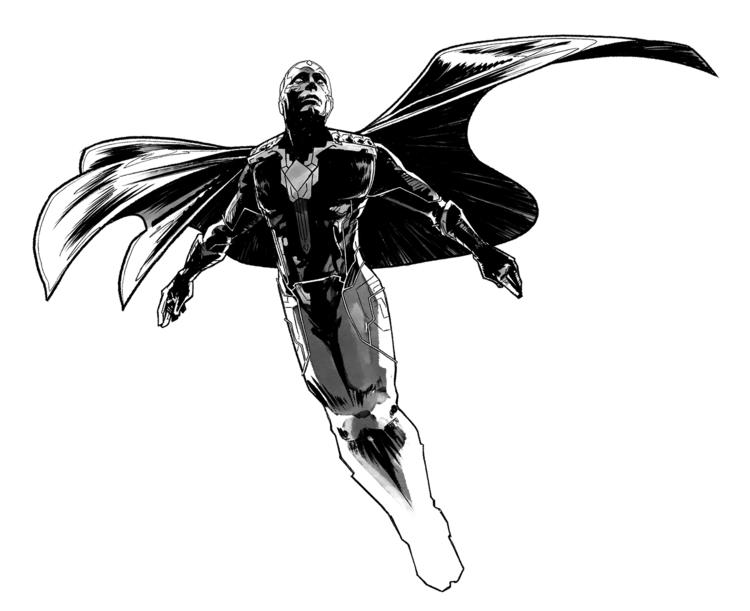 BW Vision - avengers, ageofultron - omniopticon | ello