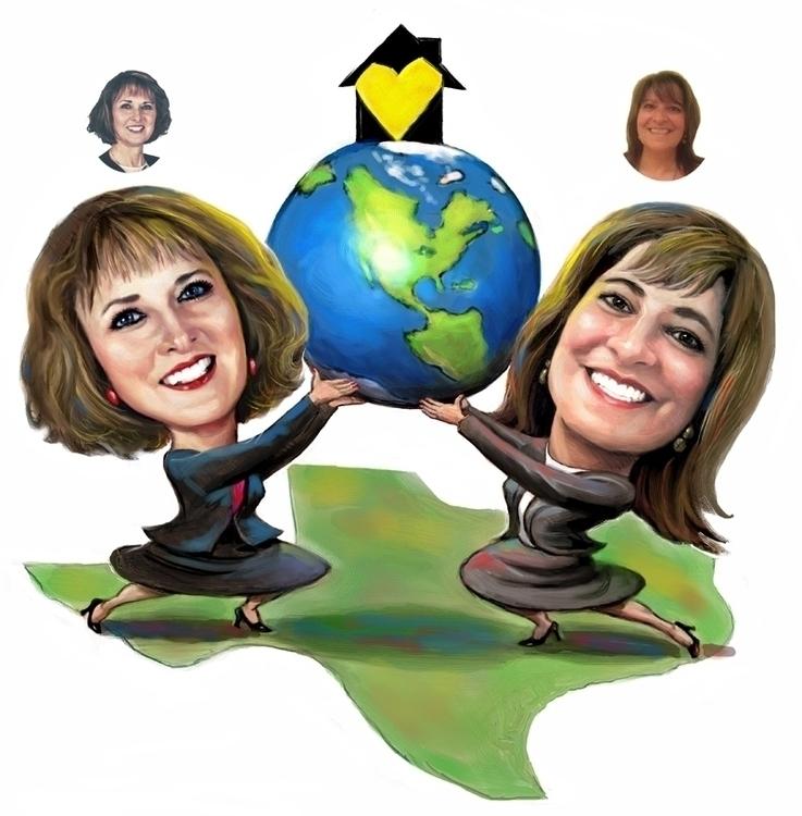 Global Realtors - illustration, digitalart - doritart | ello