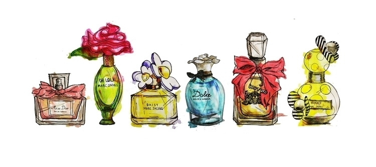 perfume illustrations - perfumes - kaitlynsmith | ello