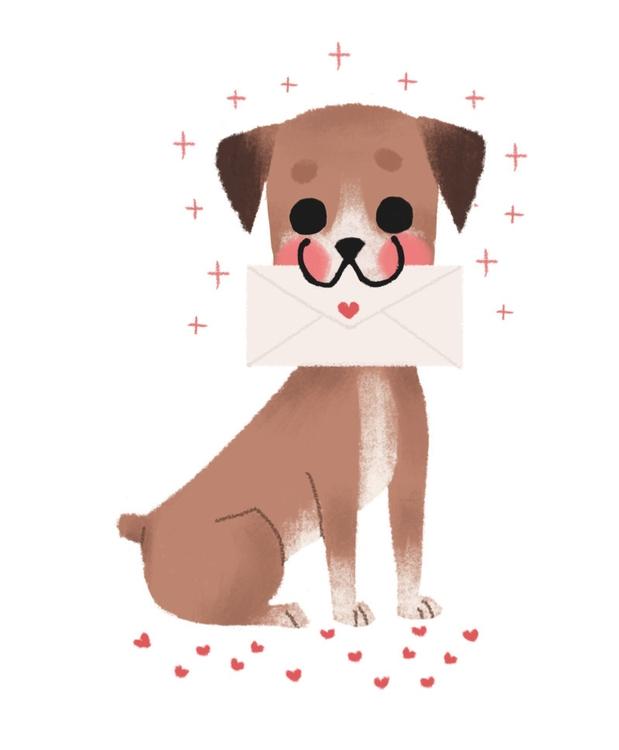 dog, illustration, boxer, love - mabelalarcon | ello