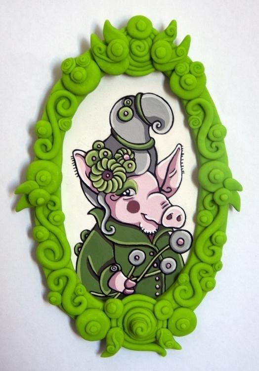 Regal Pig, gouache watercolor p - sagecotignola | ello