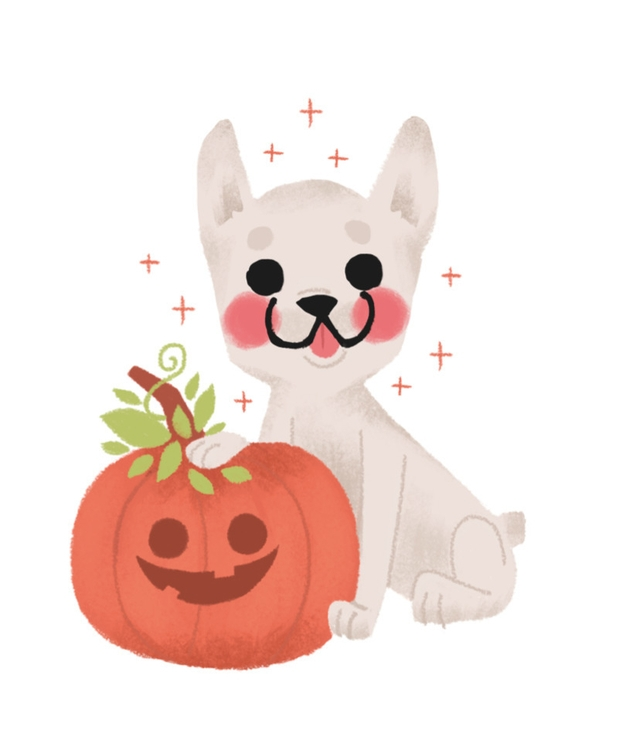 halloween, dog, illustration - mabelalarcon | ello