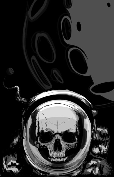 beautyfull austronaut skull pri - alexanderchalooupka | ello