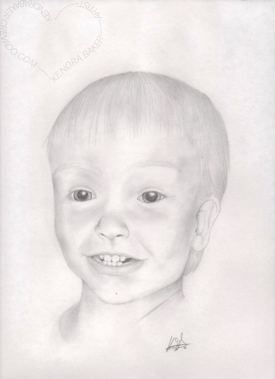 son 1 yr - drawing, portrait, children - kendra-5062 | ello