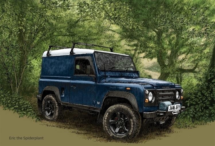 Land Rover swb Billing - illustration - dannybriggs | ello