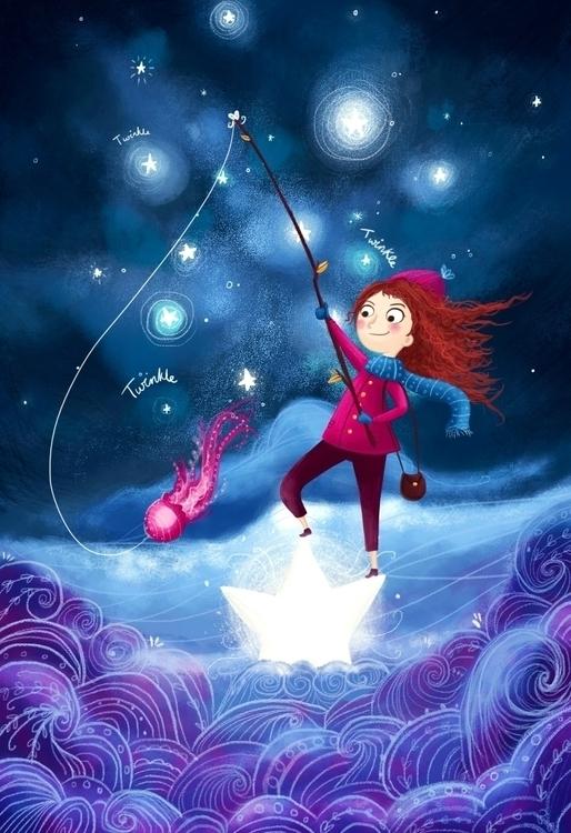 Twinkle Twinkle - jellyfish, girl - illustratelucy | ello