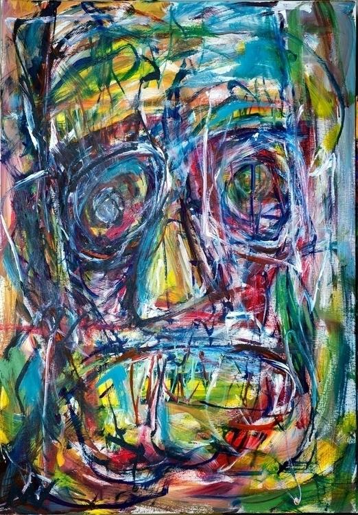 Expressive portrait 1, 100x80 c - vuja90 | ello