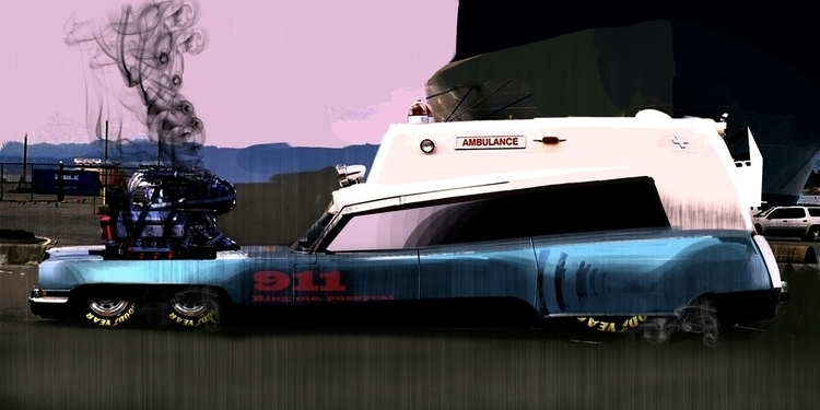 Caddy Ambulance - digitalillustration - petrolhead1992 | ello