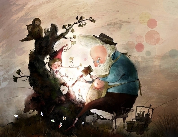 illustration, painting - dongjun-5037 | ello