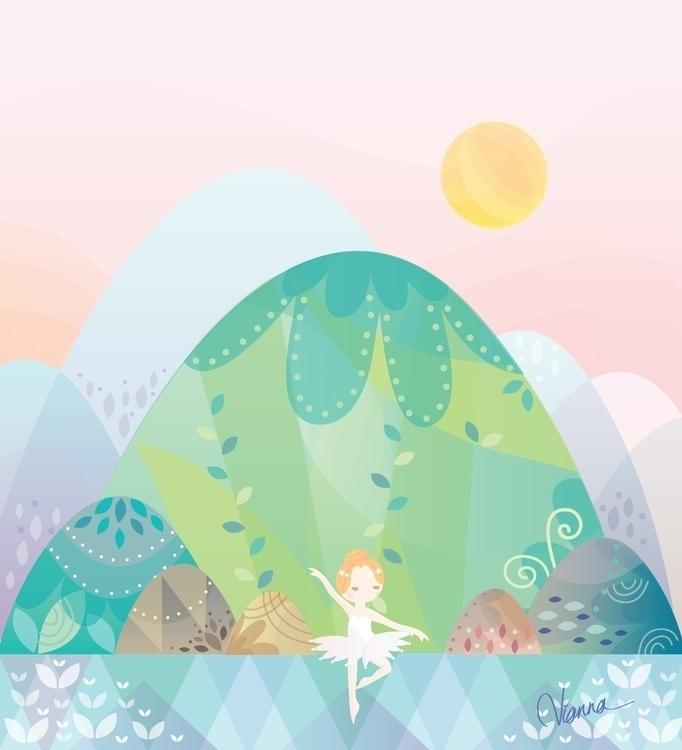Ballerina - illustration, ballerina - viannavalentina | ello