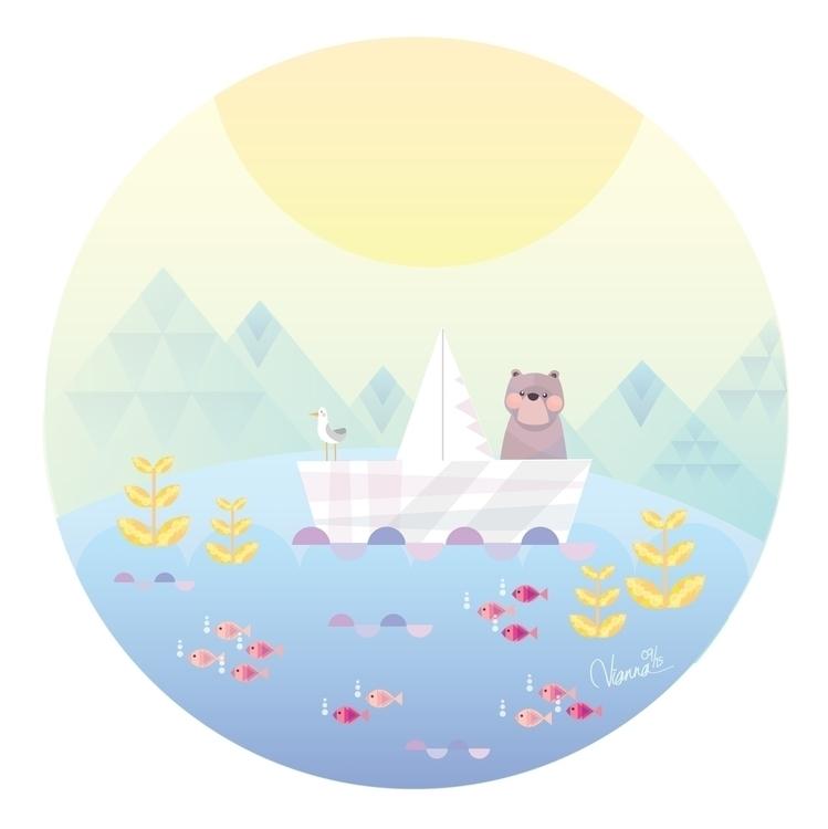 Seagull Bear - illustration, children'sillustration - viannavalentina | ello