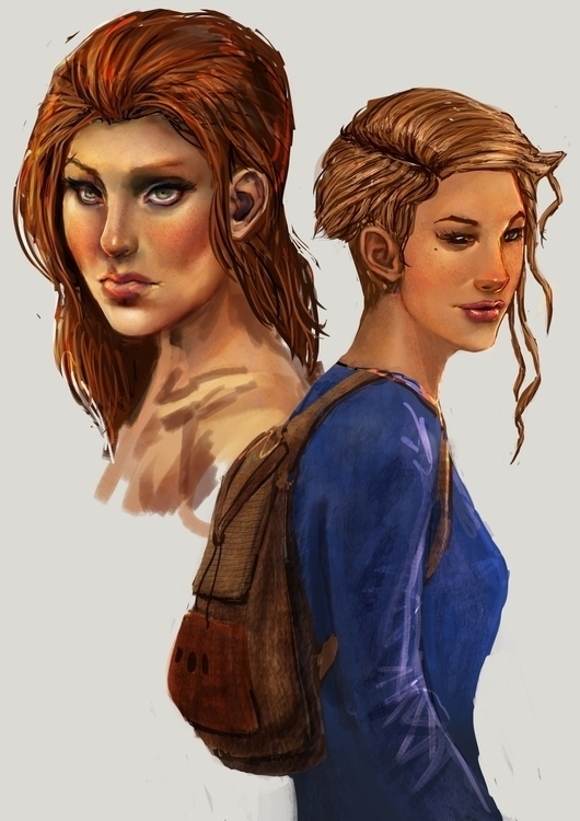 characterdesign, painting, girls - pencilpirate | ello