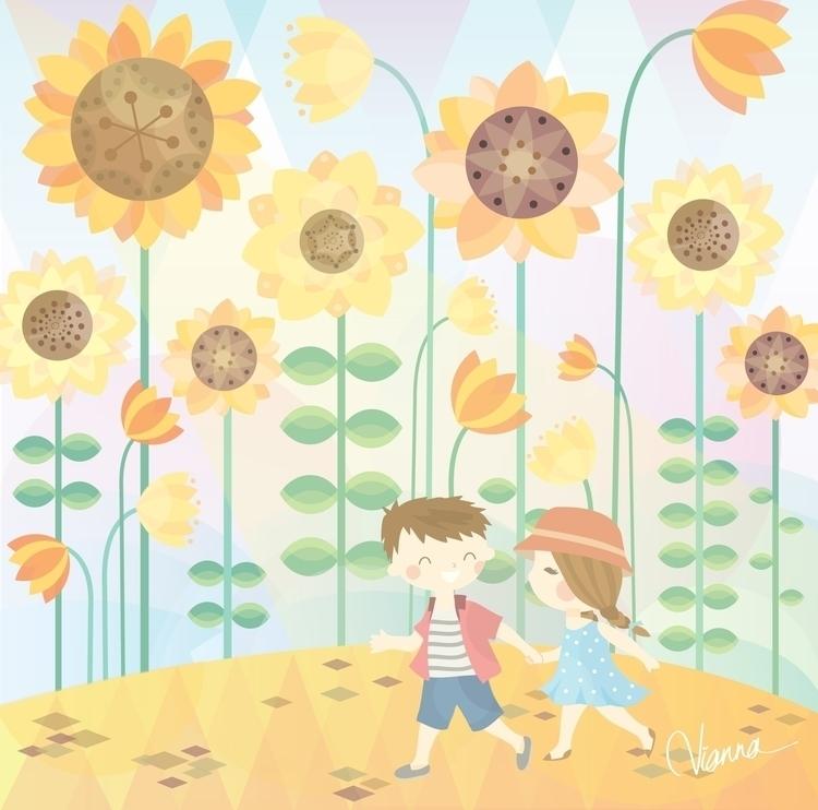 Summer - illustration, children'sillustration - viannavalentina | ello