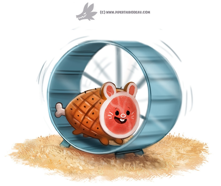 Daily Paint Ham-ster - 1228. - piperthibodeau   ello